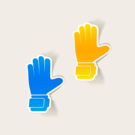 leather goods: realistic design element: gloves