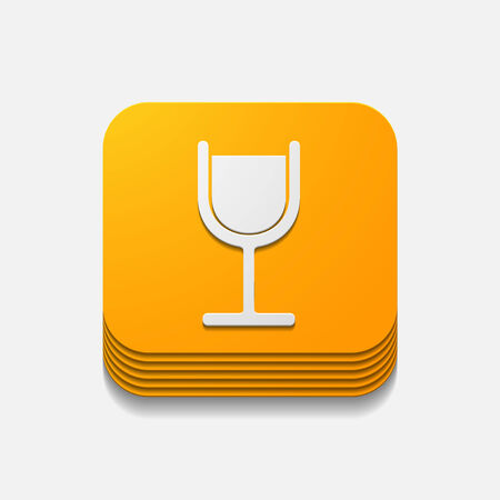 spirituous: square button: cocktail Illustration