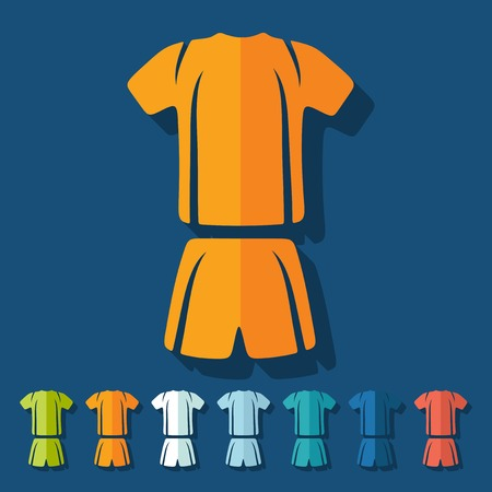 duffle: Flat design: Football clothing Illustration
