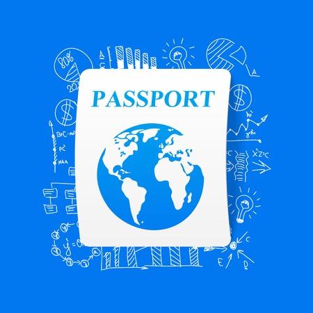 citizenship: Drawing business formulas: passport