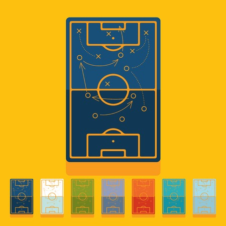 Flat design: playing field Vector