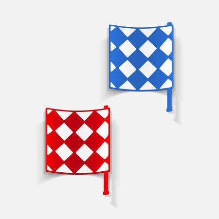 linesman: realistic design element: linesman flag Illustration
