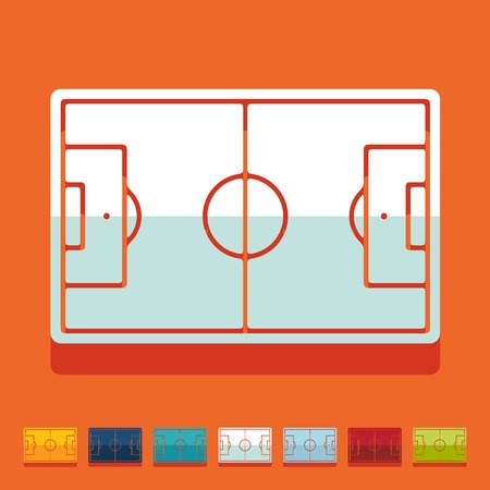 playing field: Flat design: playing field