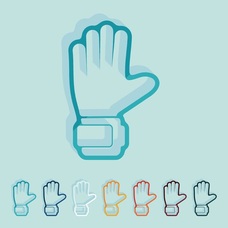 leather goods: Flat design: gloves Illustration