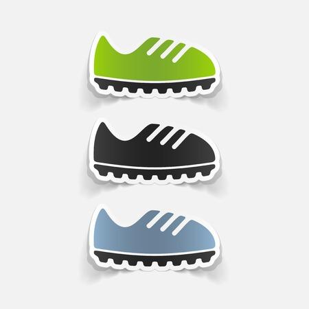 realistic design element: sneakers Vector