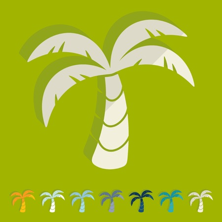insular: Flat design: palm Illustration