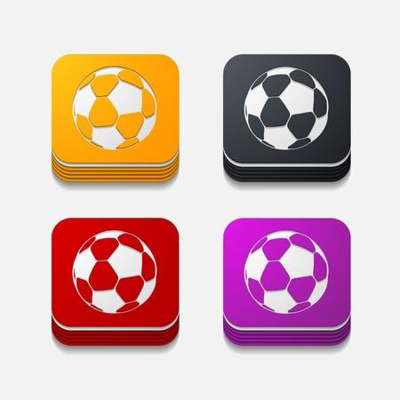 square button: ball Vector