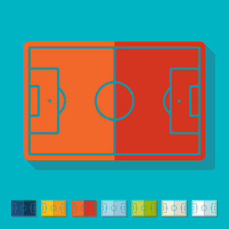 showground: Flat design  playing field Illustration