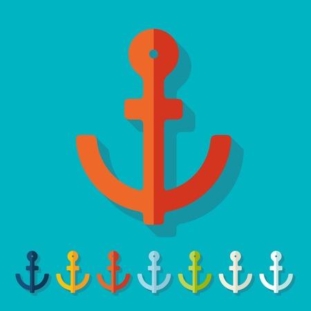 welded: Flat design: anchor Illustration