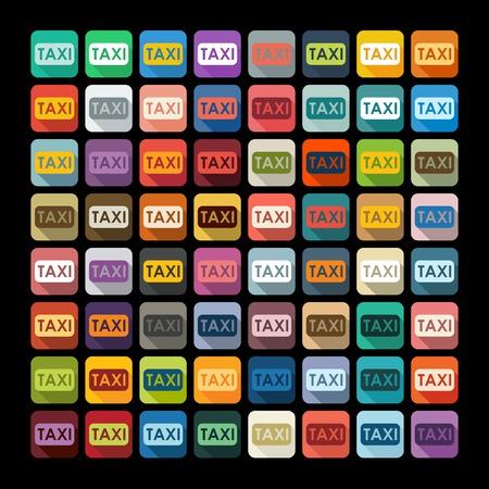 taxista: Diseño plano: de taxi Vectores