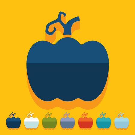 carotene: Flat design: pumpkin Illustration