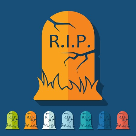 Flat design  tombstone Vector