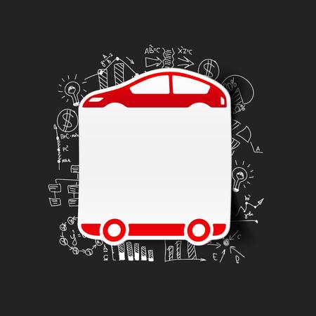 Drawing business formulas: car Vector