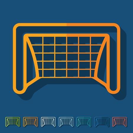 Flat design  gate Stock Vector - 29818347