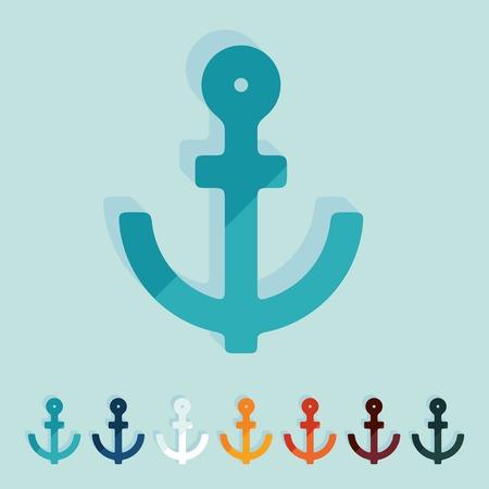 Flat design  anchor