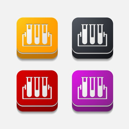 ampoule: square button: tube