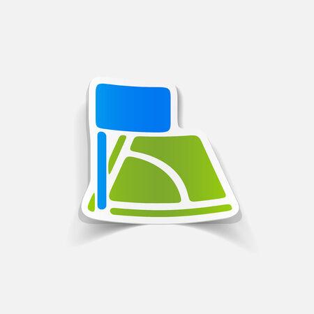 realistic design element: angle Vector