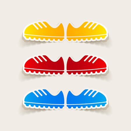 realistic design element: sneakers