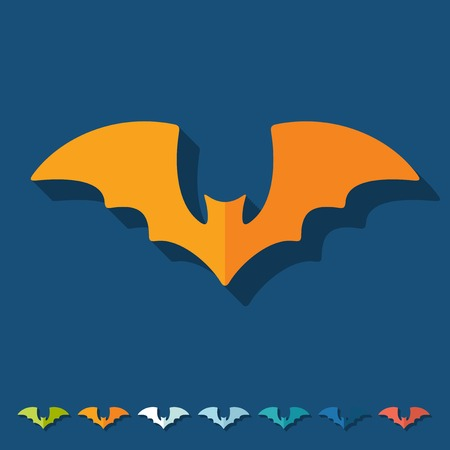 Flat design: bat Vector