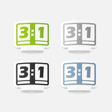 score board: realistic design element: score board