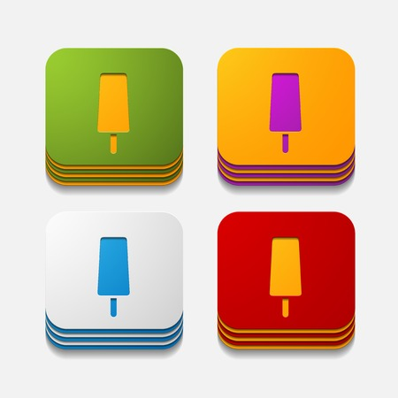 cooled: square button: ice
