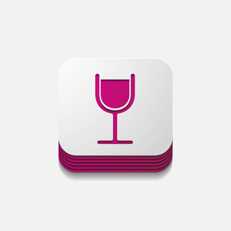 spirituous: square button: cocktail Illustration