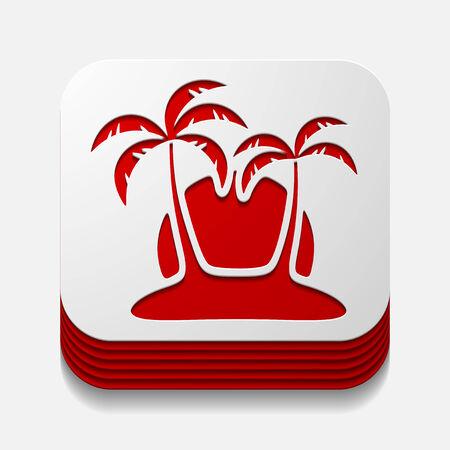 subtropics: square button: palm