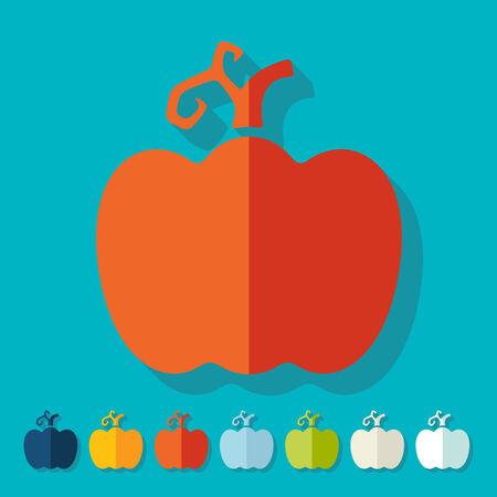 Flat design: pumpkin Illustration