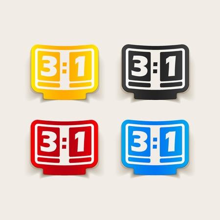 realistic design element: score board Vector
