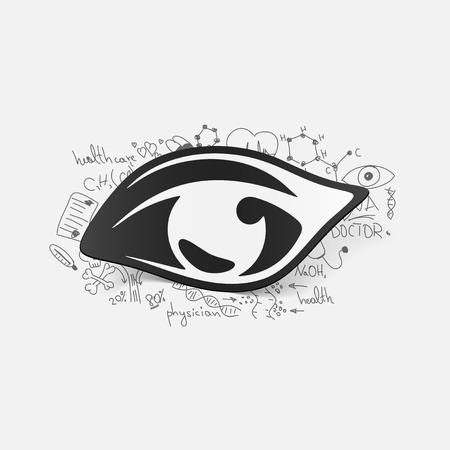 Drawing medical formulas: eye Vector