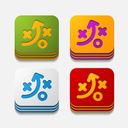 square button: tactics Stock Vector - 29976047