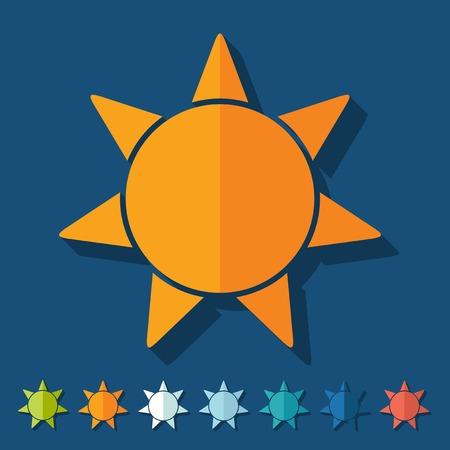 Flat design: sun Illustration