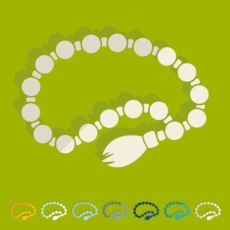 rosary: Flat design: rosary