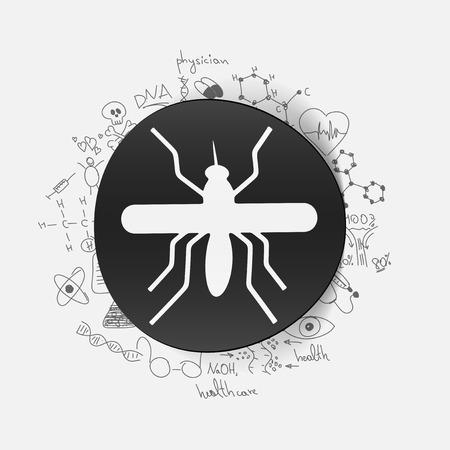Drawing medical formulas: mosquito Illustration