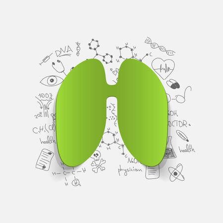 Drawing medical formulas: lung Vector