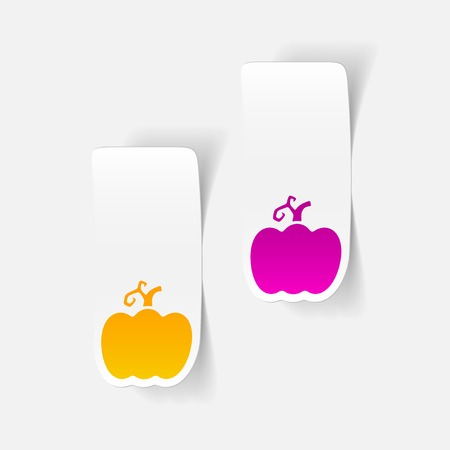 haulm: realistic design element: pumpkin Illustration