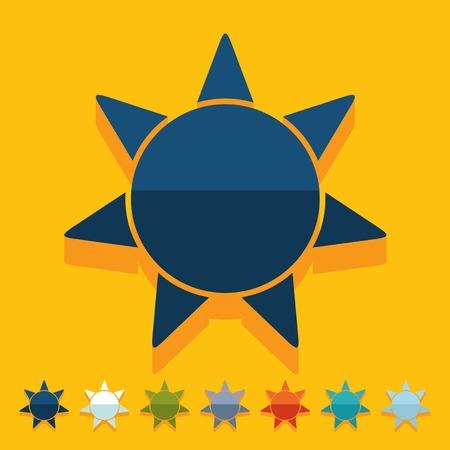 luminary: Flat design: sun Illustration