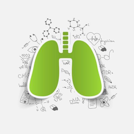 Disegno formule mediche: polmone