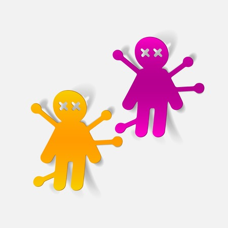 realistic design element: voodoo Doll Vector