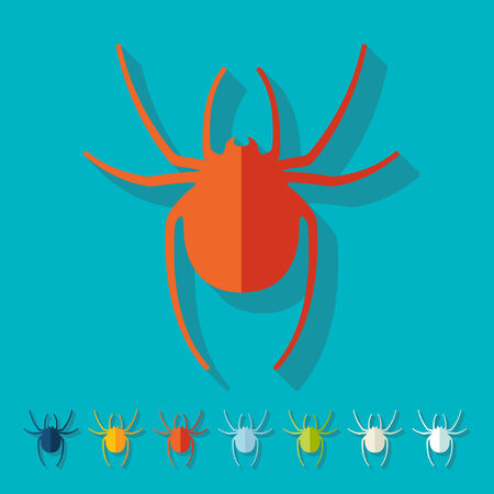 Flat design: spider Vector