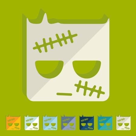 Flat design: zombie Vector