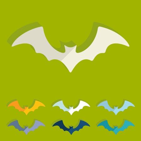 Flat design: bat Vector