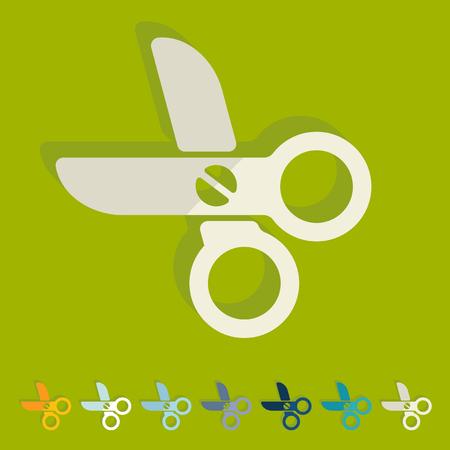 Flat design: scissors Vector