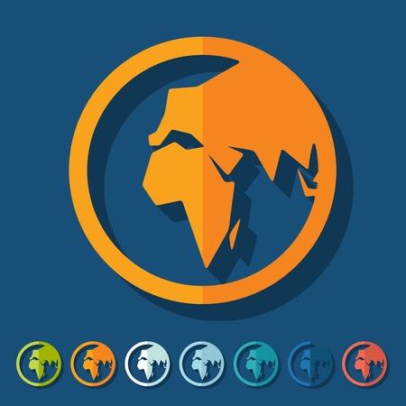 revolves: Flat design: globe