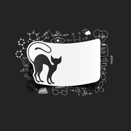 Drawing medical formulas: cat Vector
