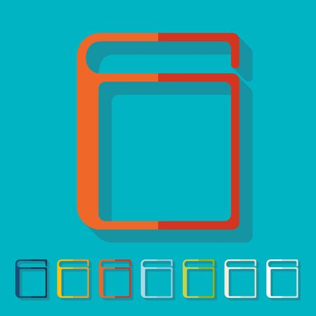 Flat design: book Vector