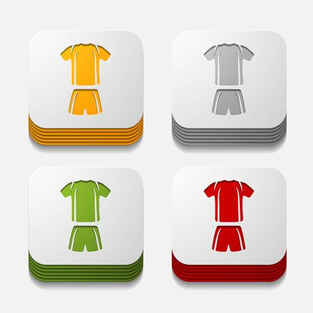 attribute: square button: Football clothing Illustration