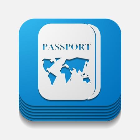 overseas: square button: passport