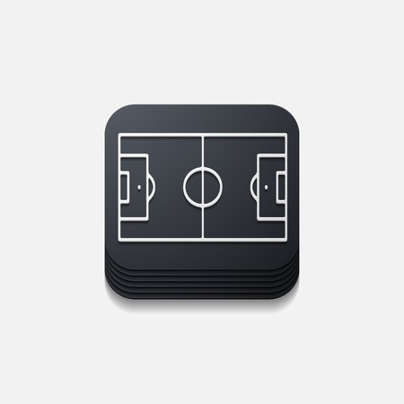 showground: square button: playing field Illustration