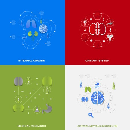 cns: Set of medical icons